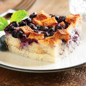 Blueberry Spiced Bread Pudding