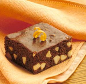 Brownies de Naranja con Chips de Vainilla