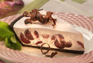 Frozen Cherry Cream Pie