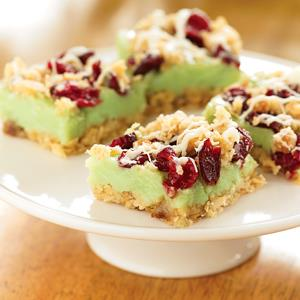 Lime Cranberry Cooler Bars