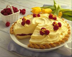 Lemon Raspberry Ribbon Pie