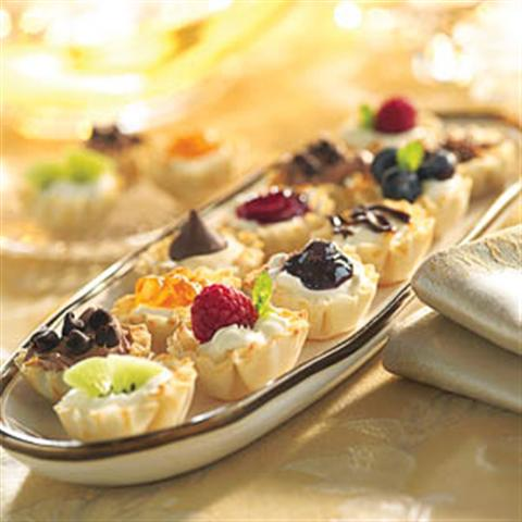 Mini Fruit Cream Cheese Tarts