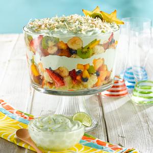 Trifle de Frutas Tropicales