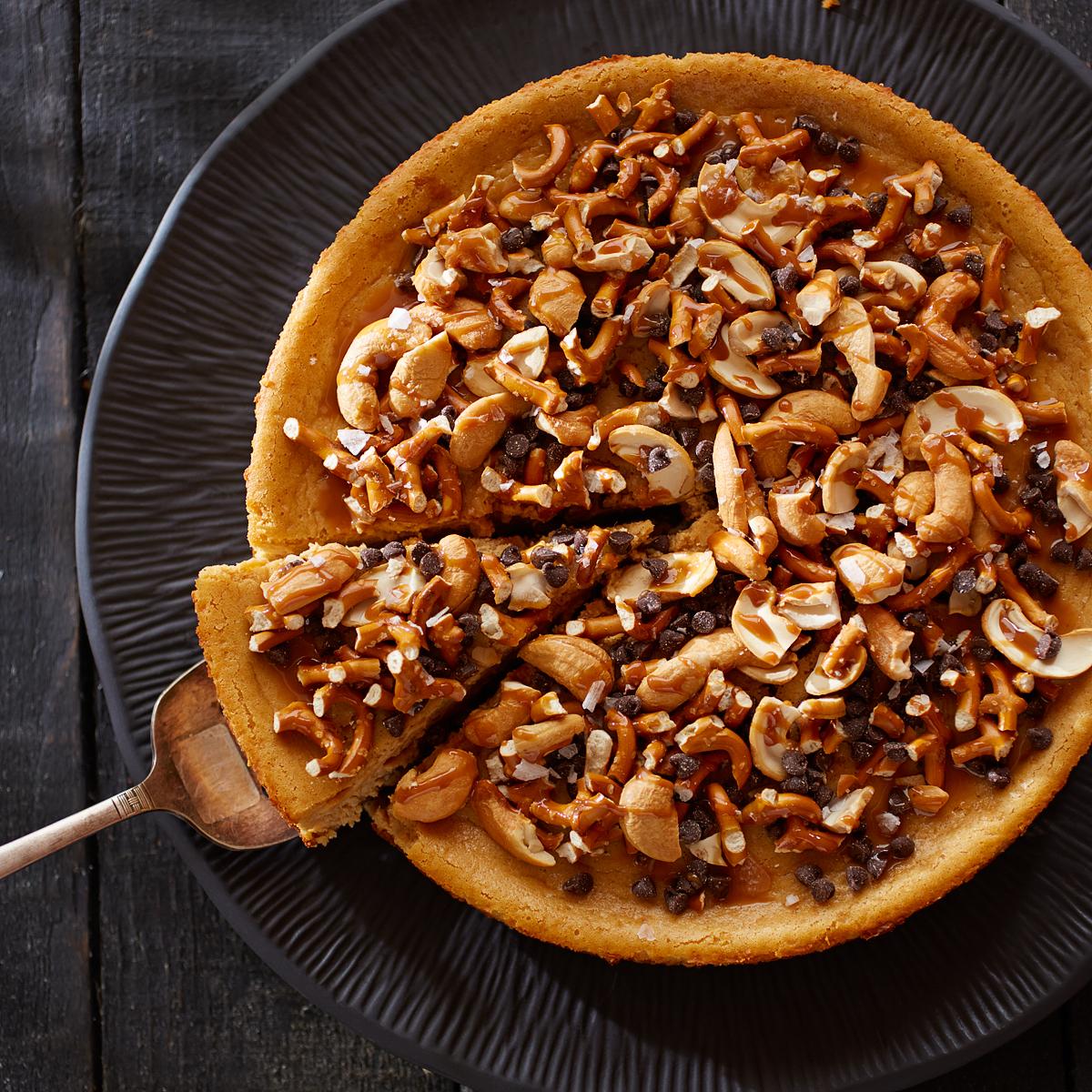 Salted Caramel Pretzel Cheesecake