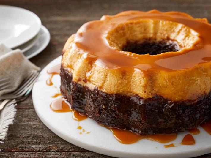 Torta de Flan y Chocolate