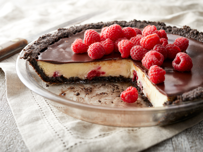 Cheesecake con Chocolate y Frambuesa