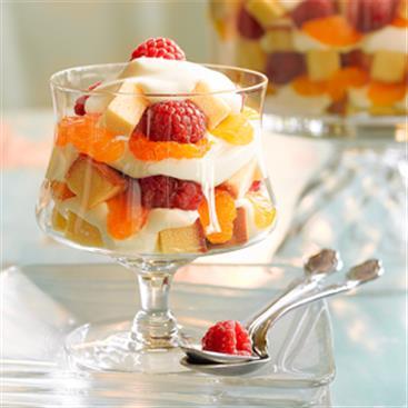 Trifle Cremoso de Naranja Mandarina