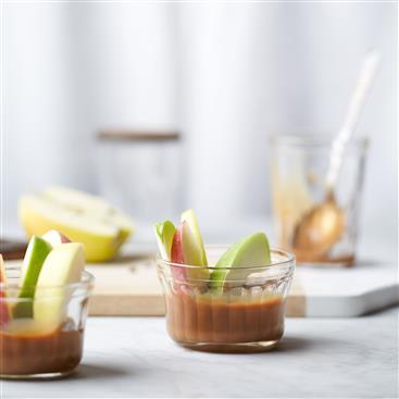 Bocados Fáciles de Manzana y Caramelo