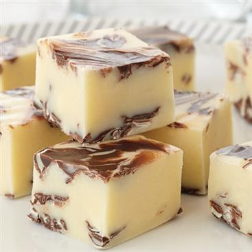 Chocolate Swirled Peppermint Fudge