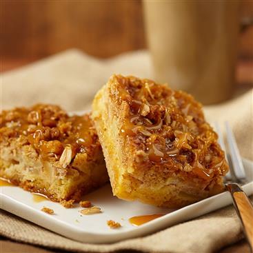 Cuadritos Dulces de Manzana y Caramelo