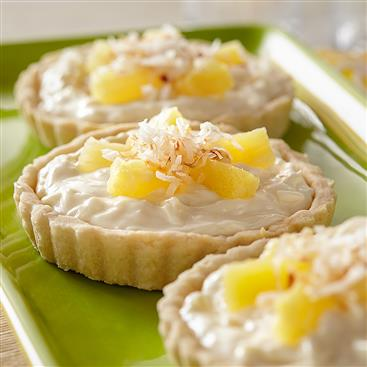 Tropical Tartlets with Toasted Coconut