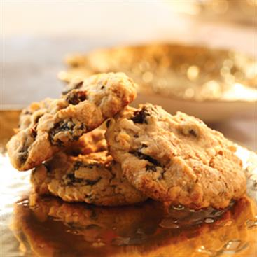 Coconut Raisin Treasure Cookies
