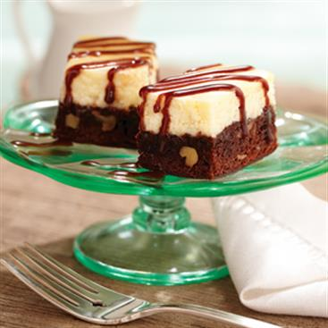 Barritas de Cheesecake y Brownie