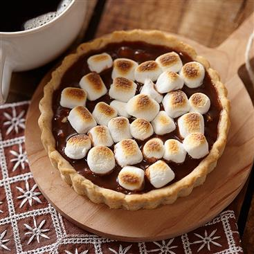Toasted Marshmallow Chocolate Hazelnut Tarts