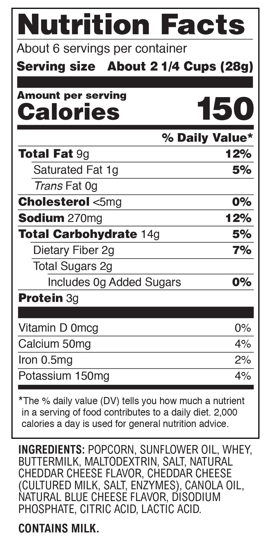 Aged White Cheddar nutritional information