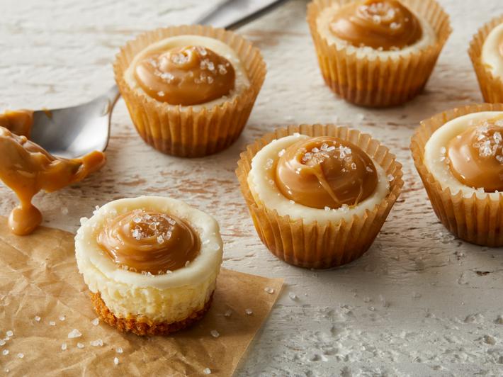 Salty Caramel Cheesecake Bites