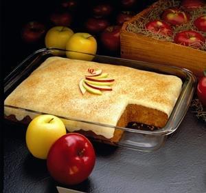 Apple Spice Custard Cake