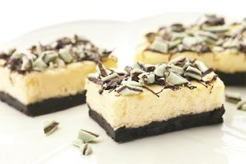 Barritas de Cheesecake, Menta y Chocolate