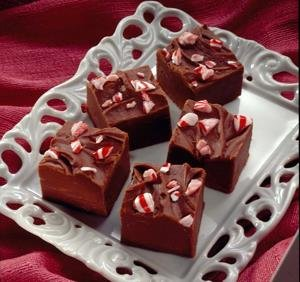 Peppermint Chocolate Fudge