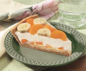 Pastel de Queso Crema, Banana y Mandarina