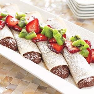 Crepes de Crema de Chocolate