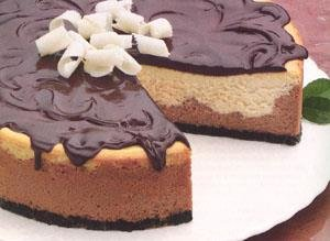 Cheesecake Triple de Chocolate y Vainilla