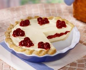 Cherry Vanilla Ribbon Pie