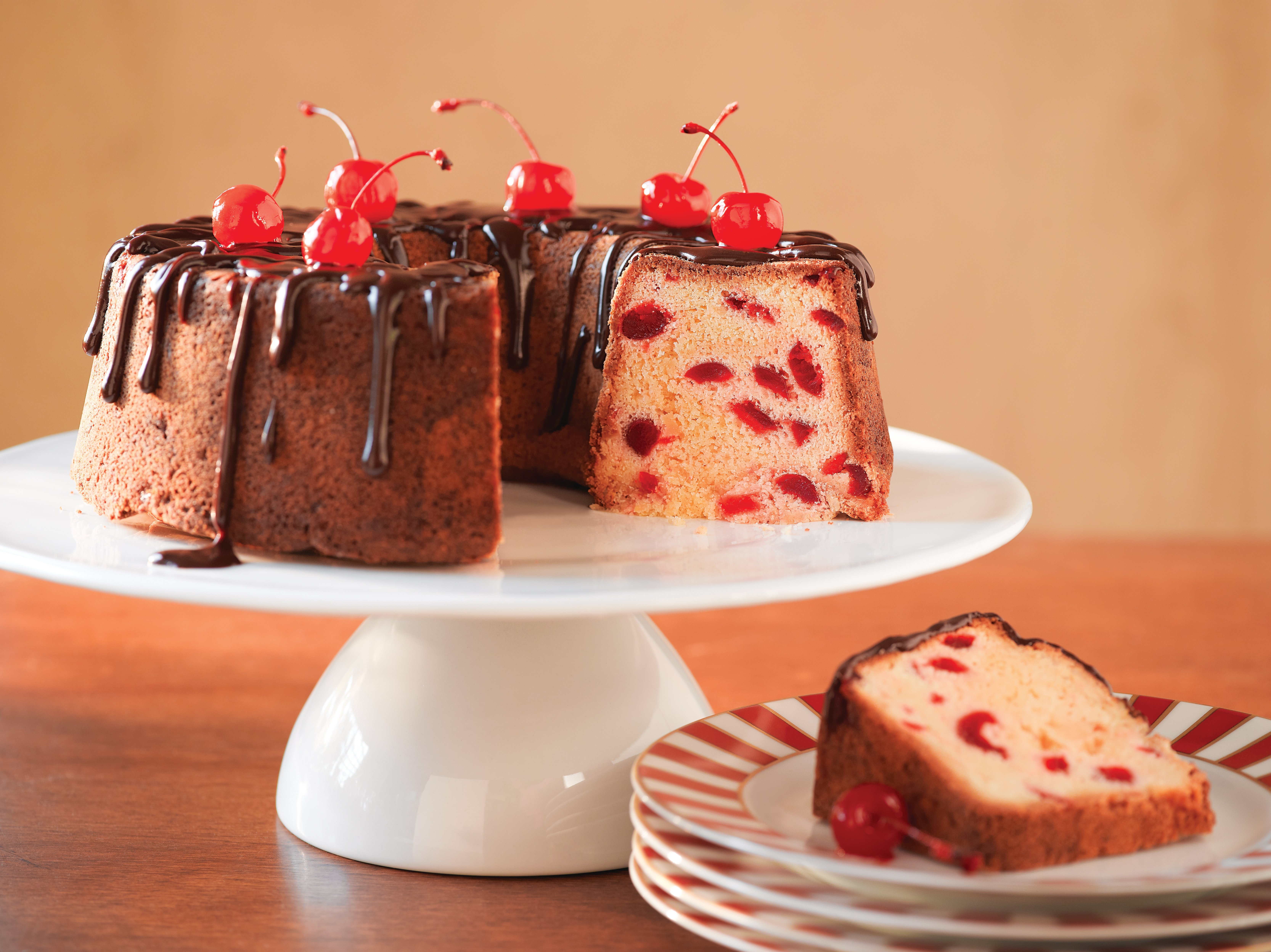 Pound Cake con Cerezas