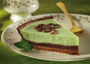 Lucky Mint Cheesecake