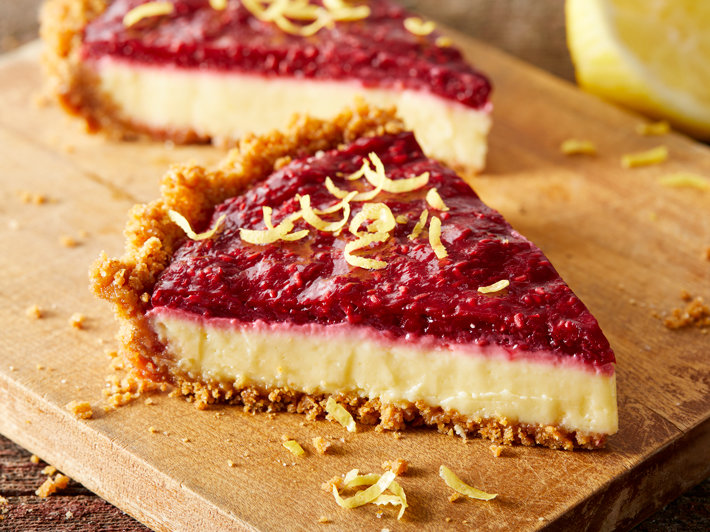 Raspberry-Topped Lemon Pie