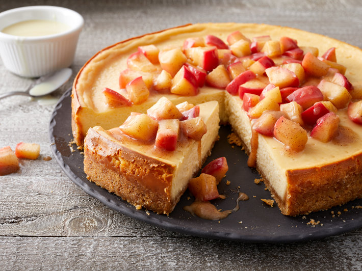 Decadent Caramel Apple Cheesecake