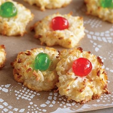 Festive Coconut Macaroons