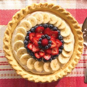 Fresh Fruit Cream Cheese Pie