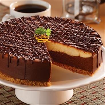 Cheesecake con Latte de Moca y Naranja