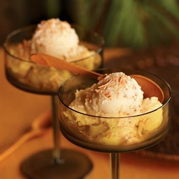 Pineapple Coconut Ice Cream Dessert