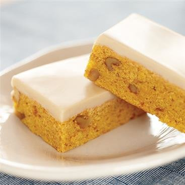 Pumpkin Bars with Maple White Chocolate Glaze