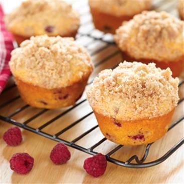 Muffin con Migajas y Frambuesa