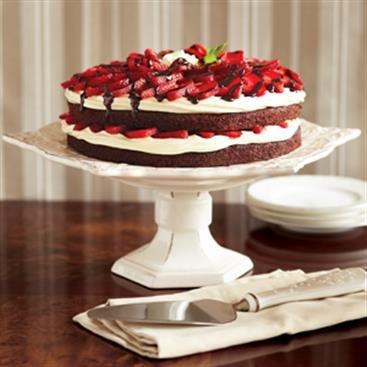 Torta de Brownie y Fresa