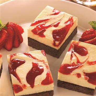 Brownies con Cheesecake de Fresa