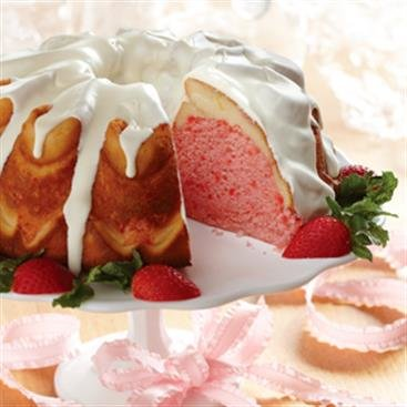 Torta de Cinta con Queso Crema y Fresas